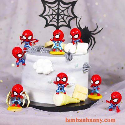 Set người nhện đầu to trang trí bánh 5