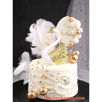 Set thiên nga trắng trang trí bánh kem 5