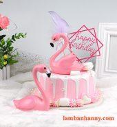 Thiên nga hồng đơn trang trí bánh