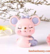 Chuột hồng đầu lắc trang trí bánh