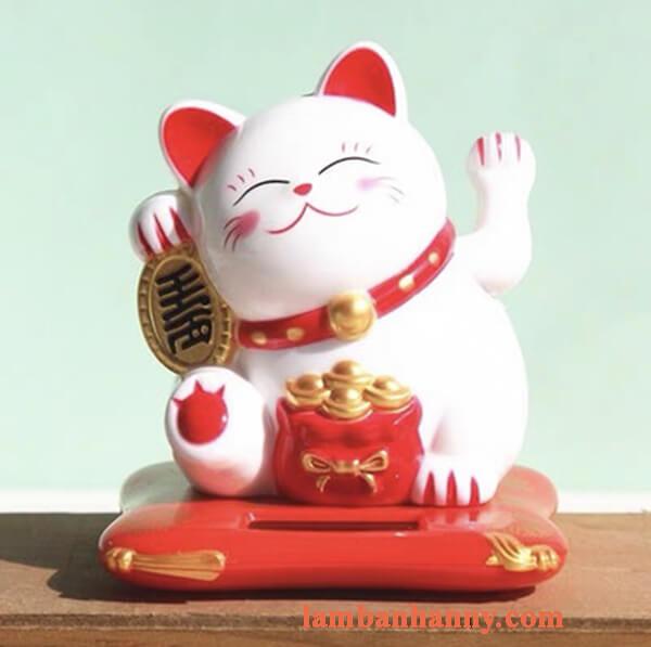 mèo thần tài trang trí bánh 3