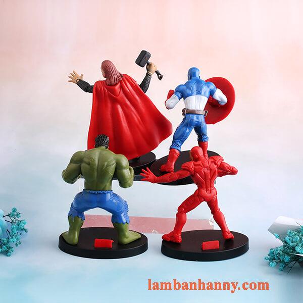 set siêu anh hùng trang trí bánh 6