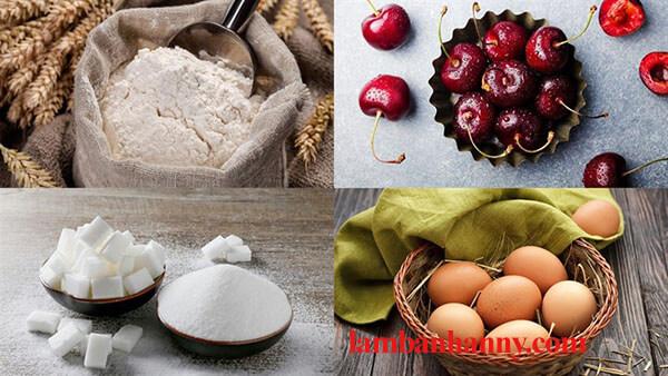 Bật mí cách làm bánh bông lan cherry thơm ngon mềm mịn cực đơn giản 2
