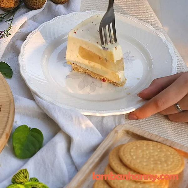Bật mí cách làm bánh mousse trái vải ngọt mát không cần lò nướng 5