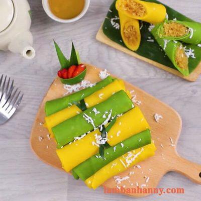 Hướng dẫn cách làm bánh crepe dừa từ lá dứa và bí đỏ vô cùng thơm ngon và bổ dưỡng 4