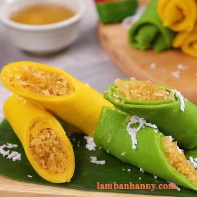 Hướng dẫn cách làm bánh crepe dừa từ lá dứa và bí đỏ vô cùng thơm ngon và bổ dưỡng 5
