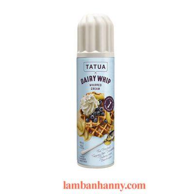 Kem tươi dạng xịt Whipped Cream Tatua 400g 2
