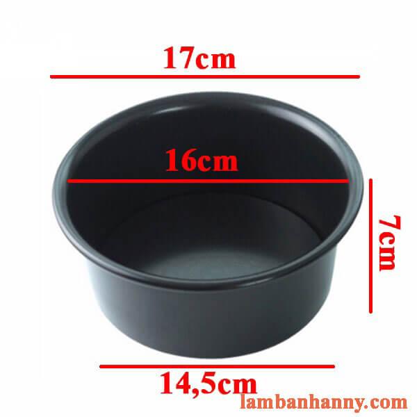 Khuôn tròn đế liền chống dính 16cm