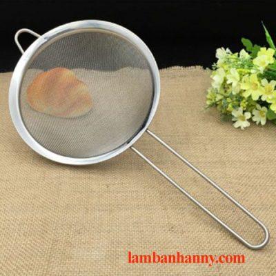 Rây bột cán dài inox đường kính 8cm 2