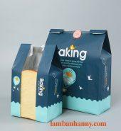 Túi đựng bánh mì Baking xanh dương 12x9x30cm