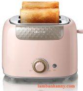 Máy nướng bánh mì Bear Hồng pastel