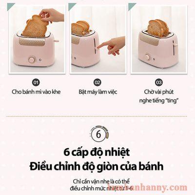may nuong banh mi bear mau hong pastel 4