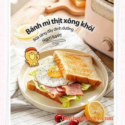 may nuong banh mi bear mau hong pastel 6