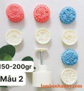 Khuôn lò xo trung thu hình hoa 4 mặt 150-200g mẫu 2